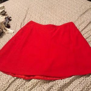 LOFT red A Line skirt (Size 12)